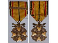 Belgium WW2 Civic Medal War Merit 3rd Class Bronze bar 1940 1945 Belgian Decoration Award King Leopold III