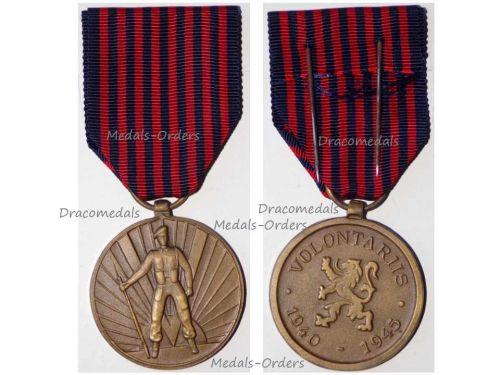 Belgium WW2 Belgian Army Volunteers Medal Dated 1940 1945