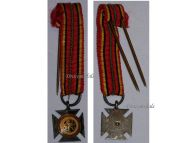 Belgium WW2 Cross Army Rhine Occupation Military Medal Belgian Decoration Award WWII 1940 1945 MINI