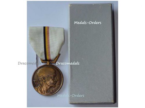 Belgium WWII National Belgian Movement Resistance Military Medal Decoration Award WW2 1940 1945 Boxed by Van Larebeke
