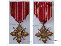 Belgium WW2 Recognition Cross Veterans King Albert Military Medal WWII 1939 1945 Belgian Decoration Award
