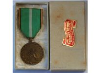 Belgium WW2 Militia Independence Front Resistance Military Medal 1940 1945 WWII  Belgian Decoration Boxed
