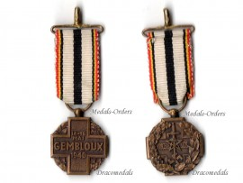 Belgium WW2 Gembloux Battle Military Medal 1940 1945 Belgian Decoration Award Blitzkrieg Von Kluge MINI