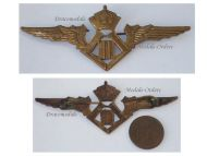 Belgium WW2 Pilot Wings Belgian Royal Air Force Badge Insignia Military Aviation King Leopold III WWII 1940 1945