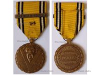 Belgium WW2 Victory Commemorative Medal with Swords & Liege 1940 Clasp