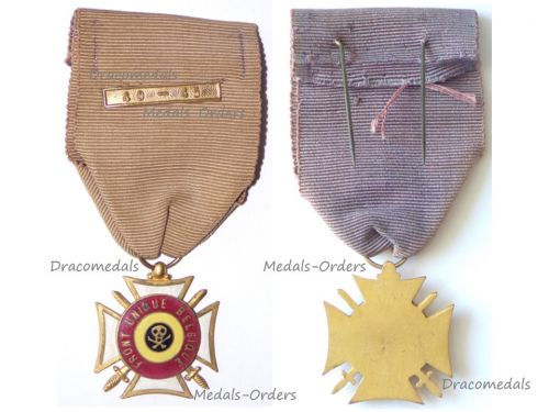 Belgium WW2 Front Unique Resistance Group Commemorative Medal Military with Clasp 1940 1945