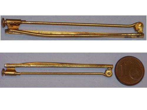 France Belgium WW1 WW2 Mounting Pin Ribbon Bar Blank for 4 Medals MINI