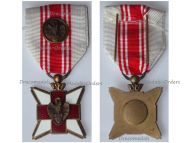 Belgium WW1 Belgian Red Cross Merit Medal for Civilian Blood Donors with Silver Clasp