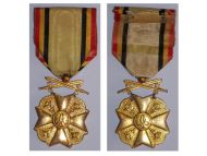 Belgium WW1 Civic Medal War Merit 1st Class Gold Belgian Civil Decoration King Albert WWI 1914 1918
