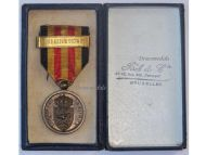 Belgium Army Mobilization Military Medal Franco Prussian War 1870 1871 w Clasp Federation 1870-71 Boxed by Fisch Belgian