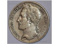 Belgium 5 Francs Coin 1849 silver 900 King Leopold Premier I Belgian Kingdom Circulated