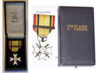 Belgium WW1 Civic Cross War Merit 2nd Class Silver bar 1914 1918 Belgian Decoration Award Great War
