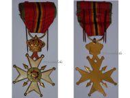 Belgium Knight's Cross National Federation Combatants WW1 WW2 Military Medal Belgian Decoration Award