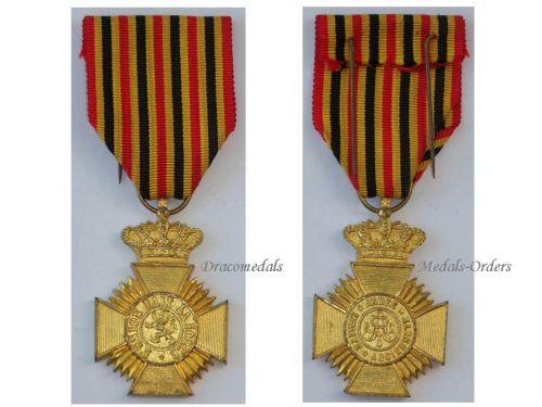 Belgium WW1 Military Decoration Loyal Service II Class Cross Medal Belgian Award King Albert WWI 1914 1918