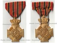 Belgium WW1 Military Decoration for Loyal Service 2nd Class (10 Years) for NCOs King Albert 1909 1934