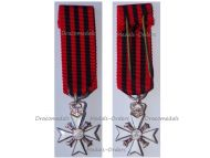 Belgium WW1 Silver Civil Cross of Long Service in State Administration 2nd Class MINI
