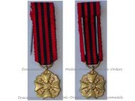 Belgium WW1 Gold Civil Medal of Long Service in State Administration 3rd Class MINI