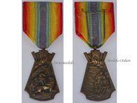 Belgium WW1 Civilian Victims Great War Medal WWI 1914 1918 Belgian King Albert Military Civil Decoration