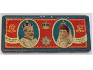 Britain King Edward VII & Queen Alexandra Coronation Day 1902 Commemorative Chocolate Tin by Rowntree