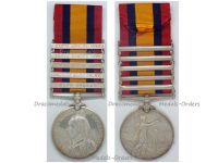 Britain Queen's South Africa Military Medal 81st Coy Imperial Yeomanry Bars 1901 1902 Cape Colony Transvaal Orange Free State Cavalry