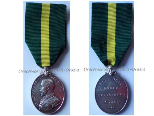 Britain Territorial Force Efficiency Medal 1908 1921 Sergeant Cyclist Battalion NCO London Regiment King George V LOW NUMBER