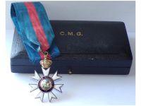 Britain WW1 Companion Order Saint St Michael George CMG Boxed by Garrard