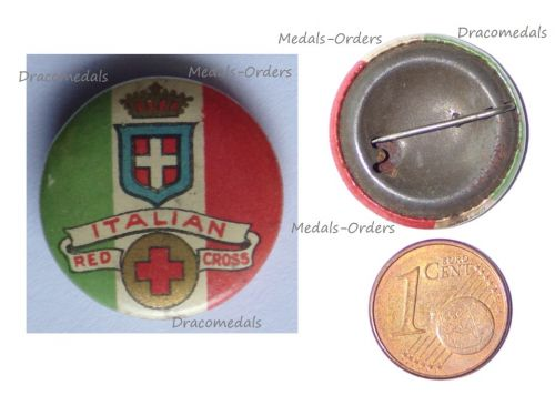 Britain Italy WW1 Patriotic Badge for the Support of the Italian Red Cross