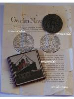 Britain WW1 RMS Lusitania Sinking Propaganda Medal with Leaflet Boxed