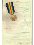 Britain WW1 Victory Interallied Military Medal 4th Bat. London Reg. Royal Fusiliers WWI 1914 1918 British Decoration Great War KIA France 1917
