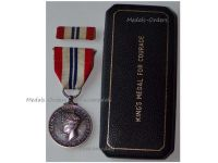 Britain WW2 King's Medal for Courage in the Cause of Freedom 1939 1945 Boxed by the Royal Mint