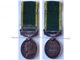 Britain WW2 Efficiency Medal Territorial 1948 1952 Bar King's Crown 2nd type British Military Royal Artillery RA Decoration King George VI