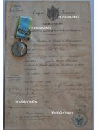 Britain Crimea Campaign Sebastopol Military Medal Crimean War 1854 1856 British Queen Victoria Diploma French Chasseurs d'Afrique Cavalry