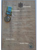 Britain Crimea Campaign Sebastopol Military Medal Crimean War 1854 1856 British Queen Victoria Diploma French Chasseurs d'Afrique Cavalry
