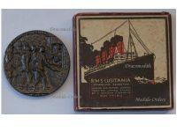 Britain WW1 RMS Lusitania Sinking Propaganda Medal Boxed