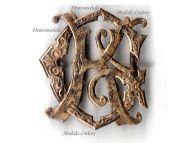 Britain WW1 GK Monogram Cipher badge brooch WWI 1914 1918 British Great War pin