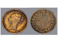 Great Britain 3pence three 3 pence 1885 Coin Queen Victoria British Empire United Kingdom Bill Currency