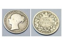 Great Britain 1 one Shilling Coin 1845 Queen Victoria British Empire United Kingdom Bill Currency