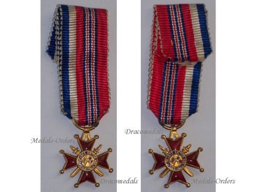 France Britain WW2 Franco British Association Officer's Cross Military Medal French Decoration 1939 1945 MINI