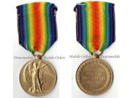 Britain WW1 Victory Interallied Military Medal RA Royal Artillery WWI 1914 1918 British Decoration Great War KIA 1917 Ypres Passchendaele