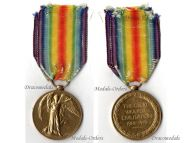 Britain WW1 Victory Interallied Military Medal East Kent Regiment The Buffs KIA 1916 Loos WWI 1914 1918 British Decoration Great War
