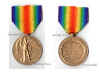 Britain WW1 Victory Interallied Medal East Yorkshire Regiment Queen's Own KIA France 1917