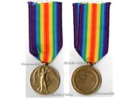 Britain WW1 Victory Interallied Military Medal Gloucestershire Regiment Glosters WWI 1914 1918 British Army Decoration Great War
