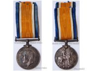 Britain WW1 British War Medal 1914 1918 Welsh Regiment (Royal Welch Fusiliers)