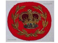 Great Britain Queen's Crown Warrant Officer Cap Badge 1952 Korea War British Royal Army Insignia