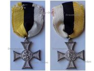 Bulgaria Silver Cross Long Military Service in the Army 10 X Years II Class for Officers Tsar Boris III