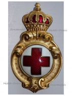 Bulgaria Badge Merit Royal Bulgarian Red Cross 1887 1st Type King Ferdinand I Balkan Wars 1912 1913 Great War 1914 1918