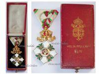 Bulgaria Order Cross Crown Civil Merit 4th Class King Ferdinand Military Medal Decoration Award 1908 WW1 1914 1918 Boxed