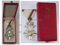 Bulgaria Order Silver Cross Crown Civil Merit VI Class Boris Military Medal Decoration Award WW1 WW2 1918 1944