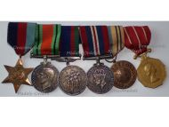 Canada WW2 Set of 6 Medals 1939 1945 Star Defense War Voluntary Service UN UNEF Medal Canadian Forces Decoration
