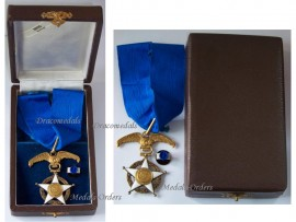 Chile National Order Merit Commander's Star Chilean Civil Military Medal Decoration Boxed Maker E. Hours Santiago